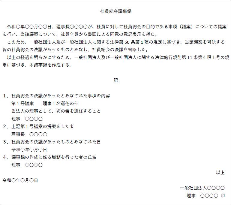 書面決議(決議の省略)とは何ですか? | 相談事例 | 【大阪の司法書士 ...